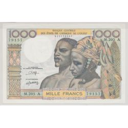 Afrique de l'ouest - 1000 Francs - ND 80 - Cote d'ivoire