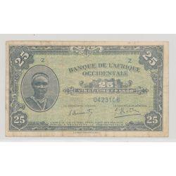 Afrique occidentale - 25 Francs - 14.12.1942 - TTB