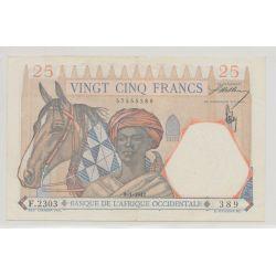 Afrique occidentale - 25 Francs - 9.01.1942 - TTB