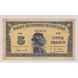 Afrique occidentale - 5 Francs - 1942 - TTB