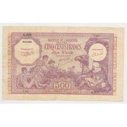 Algérie - 500 Francs - 15.09.1944 - TTB