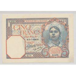 Algérie - 5 Francs - 13.07.1929 - TTB+