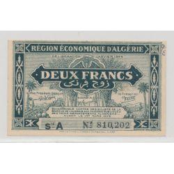 Région économique d'Algérie - 2 Francs - 1944 - SUP