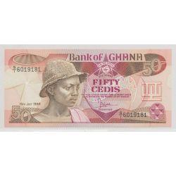 Ghana - 50 cedis - 15.07.1986 - NEUF