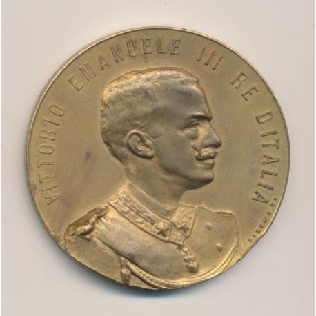 Médaille - Exposition internationale - Rome 1902 - Vittorio emmanuelle III - bronze