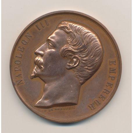 Médaille - Société agriculture sciences et arts - Rochefort - Napoléon III - cuivre