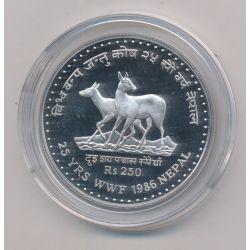 Nepal - 250 Roupies 1986 - argent