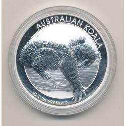 Australie - 1 Dollar 2012 - Koala - argent 1 once