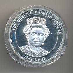 Niue Island - 5 Dollars - 2012 - Jubilé de la reine - argent