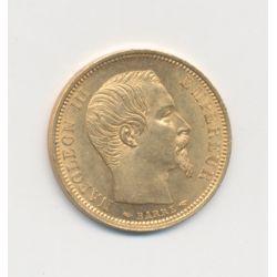 Napoléon III Tête nue - 10 Francs Or - 1854 A Paris - Petit module - tranche lisse