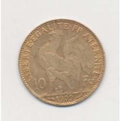 Coq/Marianne - 10 Francs Or - 1909