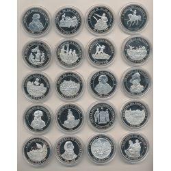 Collection complète - 20 Médailles - Collection Révolution Française