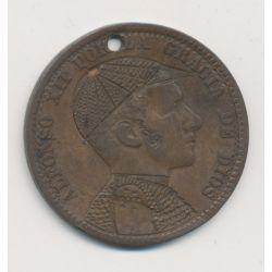 Monnaie satirique - 10 centimos - Alfonso XII