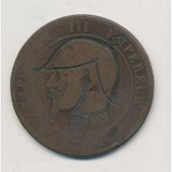 Monnaie satirique - 10 centimes - casque à pointe - Napoléon III