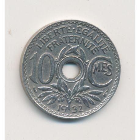 Monnaie Fautée - 10 centimes 1932 - non troué entièrement