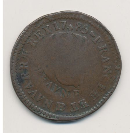 Monnaie Fautée - Sol 1785 Louis XVI - Double frappe