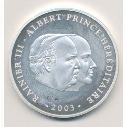 Monaco - 10 Euro 2003 - Rainier III et Albert