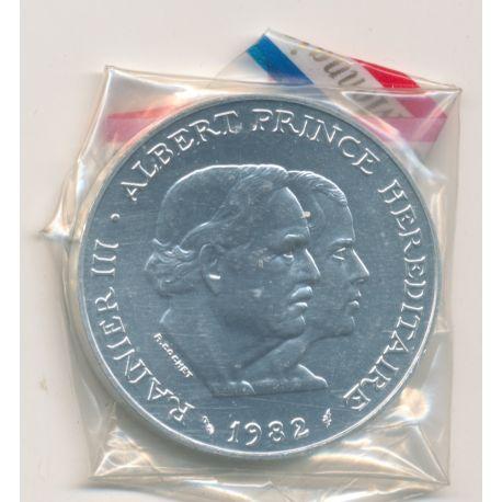 Monaco - 100 Francs 1982 essai - argent - Rainier III et Albert
