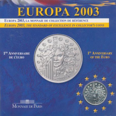 1/4 Euro Europa - 2003 - 1er anniversaire de l'Euro - argent
