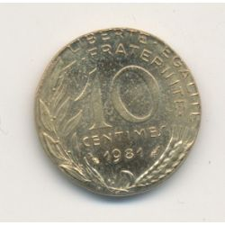 Monnaie Fautée - 10 centimes marianne 1981 - sur flan 5 centimes