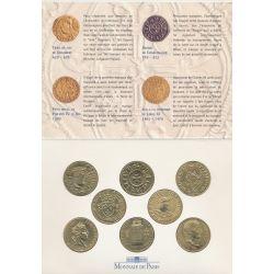 Coffret - Une Histoire de Monnaies Françaises - 8 médailles