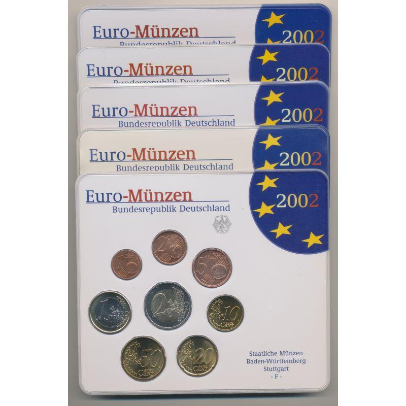 Bu Allemagne 2002 5 Ateliers Adfgj Monnaies Médailles 17