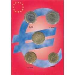 Monaco - Série 5 Pièces - 2002 - 10 cents à 2 euro