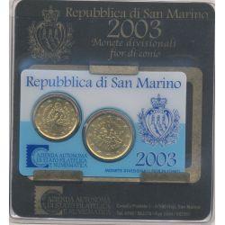 Coincard St Marin 2003 - 20 et 50 cents