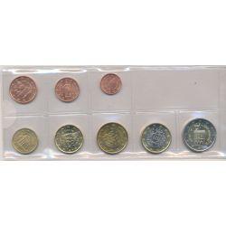 St Marin - Série 8 pièces - 1 cent à 2 euro - années mélangées
