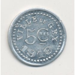 Gex - 5 Centimes - 1919 - alu rond 20mm
