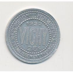 Vichy - 25 centimes - 1922 - alu