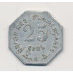 Carcassonne - 25 centimes 1917 - union des commerçants - alu