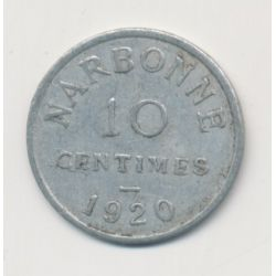 Narbonne - 10 centimes - 1920 - alu