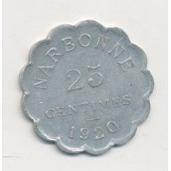 Narbonne - 25 centimes - 1920 - alu