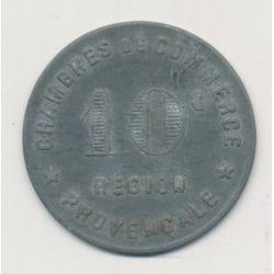 Région provencale - 10 centimes ND - chambre de commerce - zinc