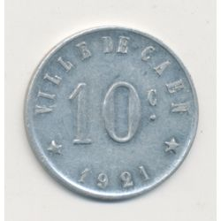 Caen - 10 centimes 1921 - union commerciale - alu