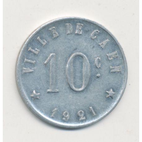 Caen - 10 centimes 1921 - union commerciale - alu