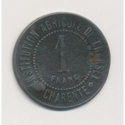 Charsey - 1 Franc 1883 - institution agricole - laiton