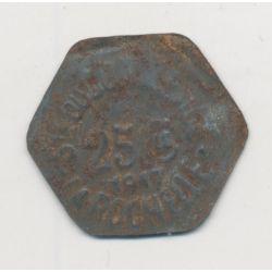 La Rochelle - 25 centimes 1917 - société du commerce - fer