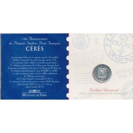 1 Franc - 1999 - 150e anniversaire du premier timbre poste Français