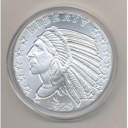 Etats-Unis - 5 Once argent - Tête Indien