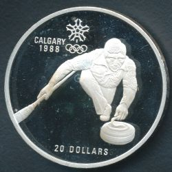 20 Dollars 1987 JO curling