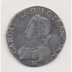 Henri III ( au nom Charles IX ) - Teston - 1575 H La Rochelle