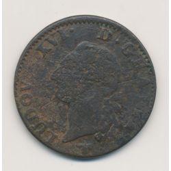Louis XVI - Sol - 1780 H La rochelle