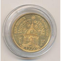 1 Franc - Institut de france - 1995 - doré