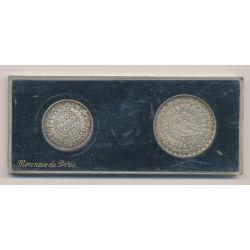 Maroc - Coffret Monnaie de Paris - 100 et 200 Francs - 1953 Essai