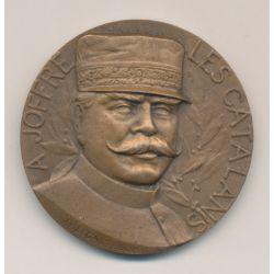 Médaille - A.Joffre - Les catalans - 12 novembre 1916 - bronze