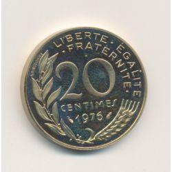 Piéfort 20 centimes Marianne 1976