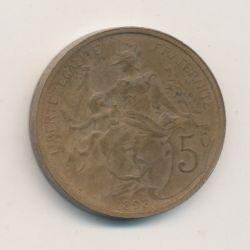 Piéfort - 5 centimes Dupuis - 1898