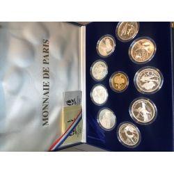 Coffret 10 Monnaies - JO Albertville 1992 - Or et argent